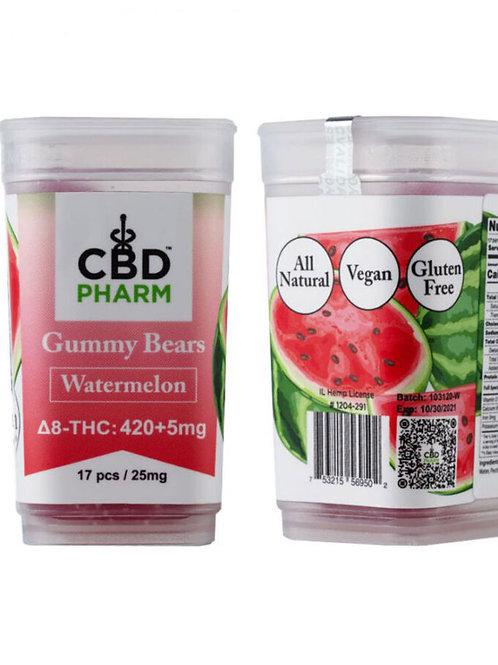 CBD Pharm Watermelon Delta 8 Gummy Bears (420+5mg)