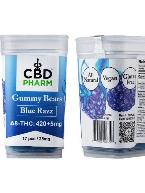 CBD Pharm Blue Razz Delta 8 Gummy Bears (420+5mg)