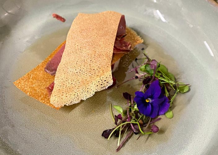 Mille Feuille de Foie Gras et Colvert