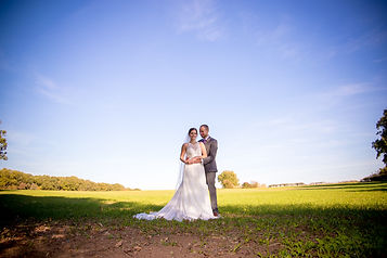 Bride and Groom have their picture taken in the grounds of Manor Hill House, Bromsgrove.