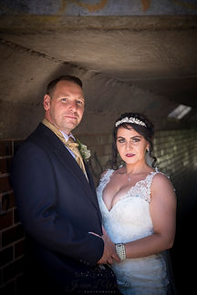 Bride and groom after their wedding in Stratford Upon Avon.