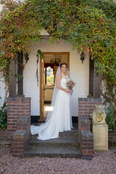 Bride before getting married