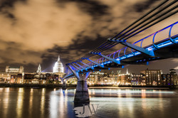 Millennium Bridge with St Pauls in the background