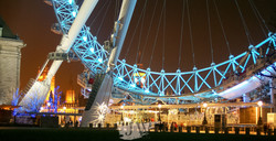 A view of a section of The London Eye.