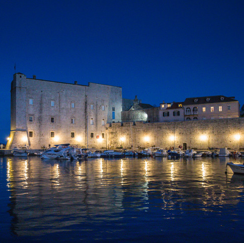 A view of the harbour of Dubrovnik