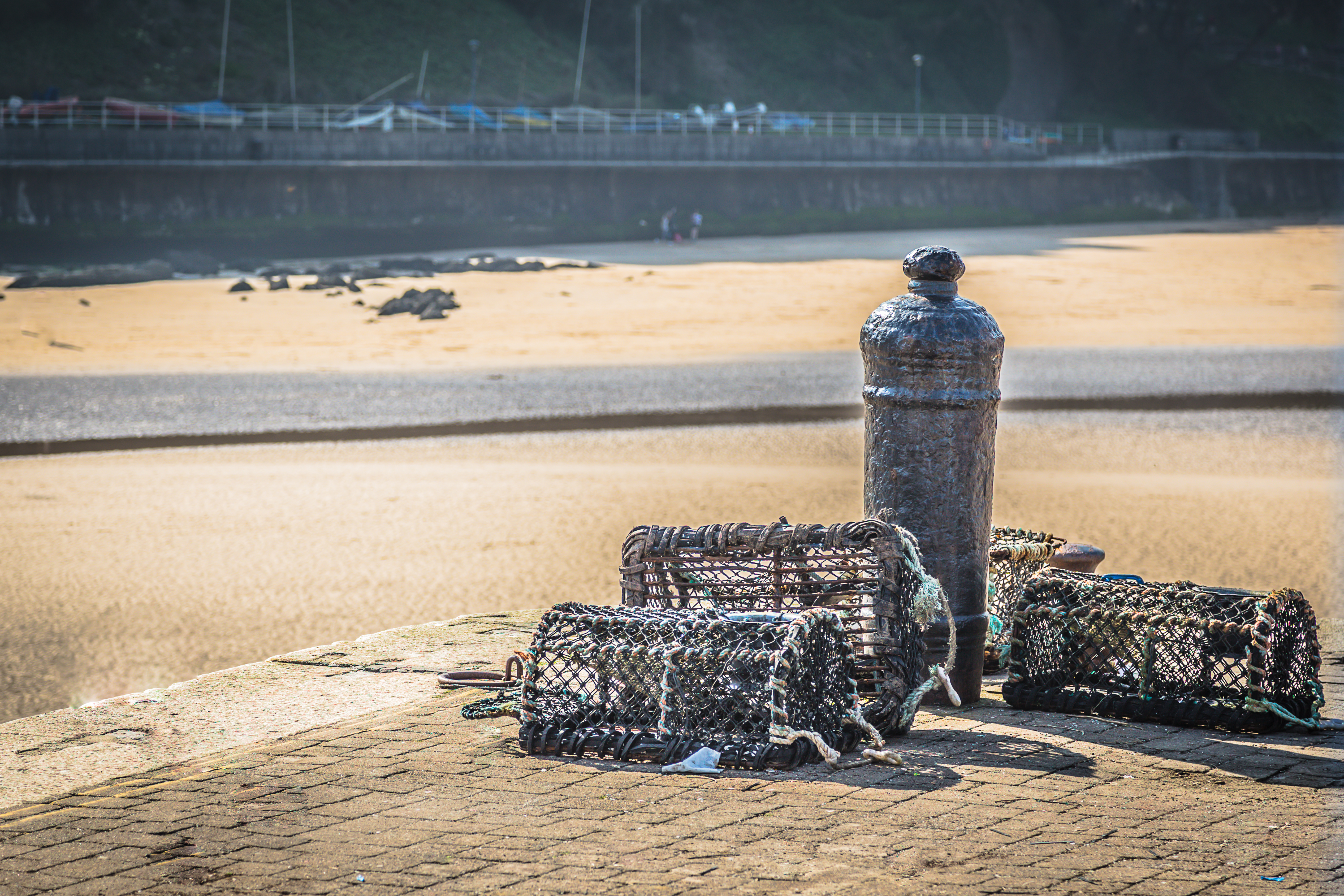 Lobster Pots at Tenby Harbour