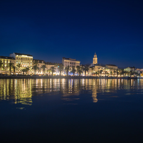 A view across the water of Split, Croatia