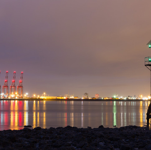 A view across Liverpool Bay from New Brighton Beach