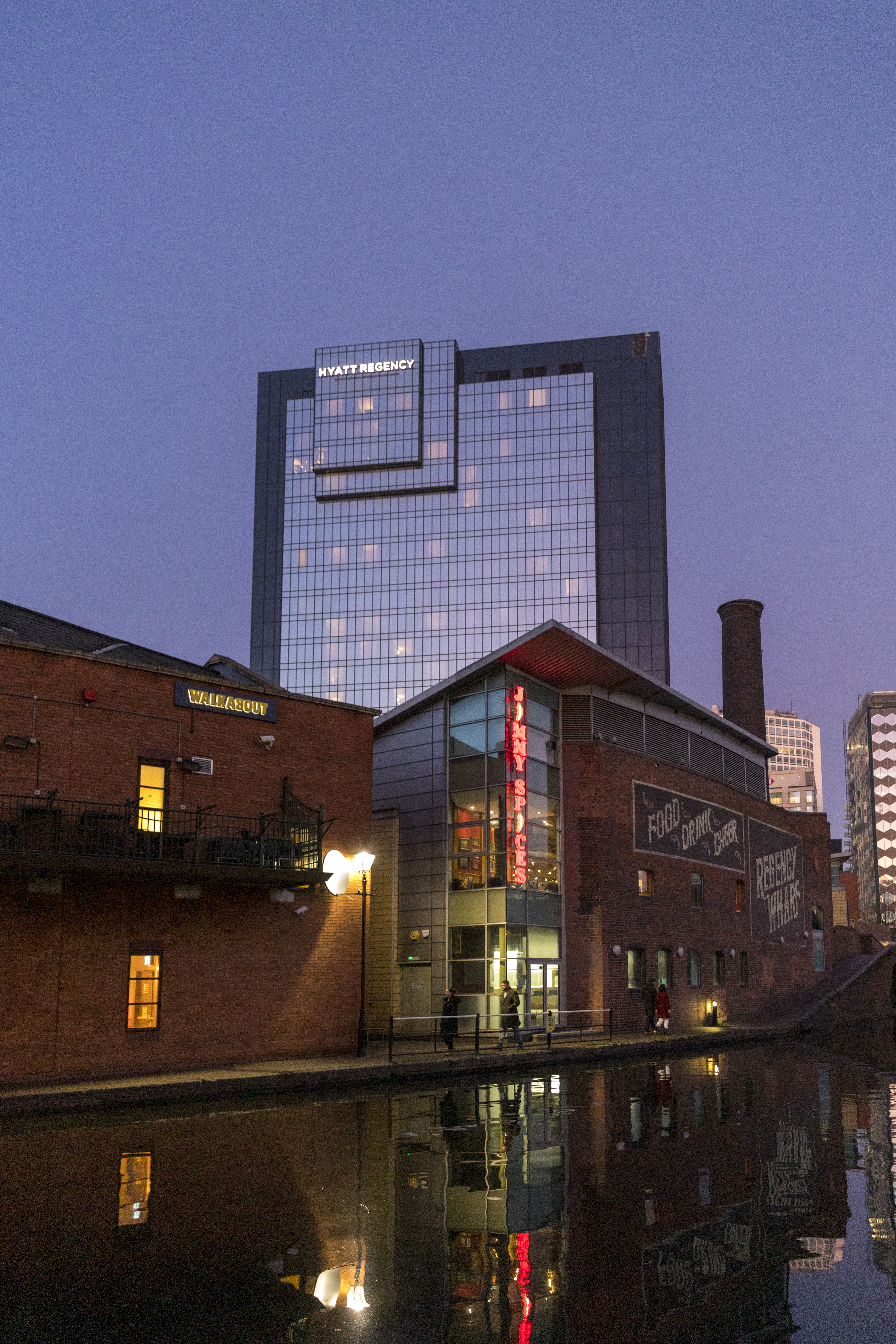 2020 - Hyatt Regency from Gas Street Basin, Birmingham.