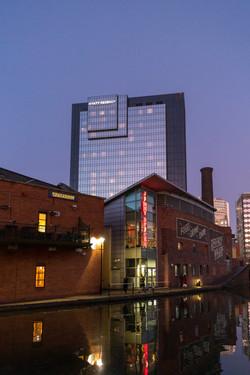 2020 - Hyatt Regency from Gas Street Basin, Birmingham.