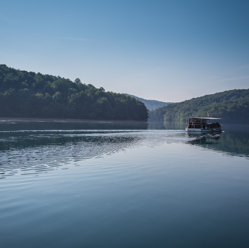 A boat on Plitvice Lakes