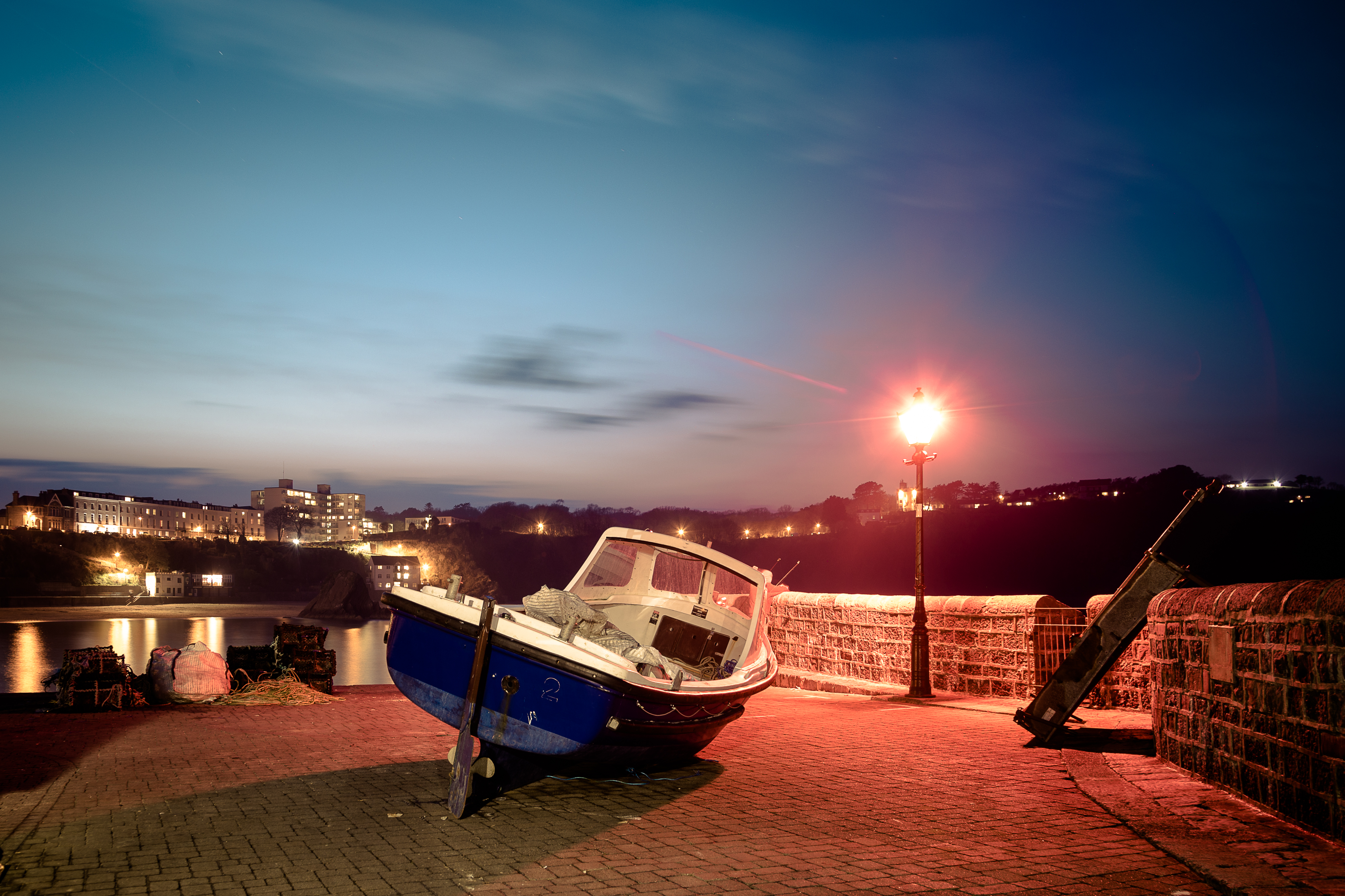 A boat in Tenby Harbour