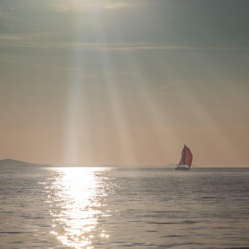 A sail boat in Zadar.