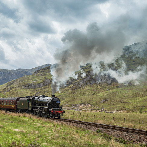 Steam Train in Scotland.