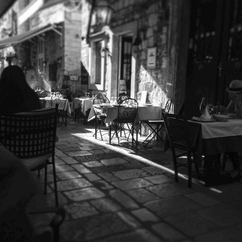 A table in Split, Croatia.