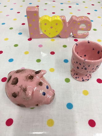 Personalised Pottery Bexley Pig and Egg Cup