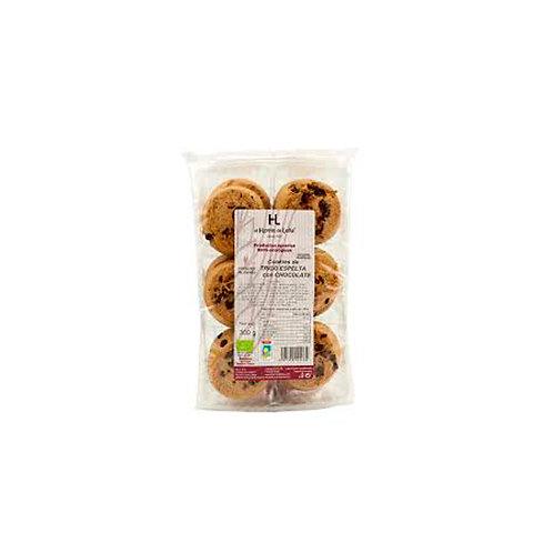Galletas cookies de espelta con chocolate