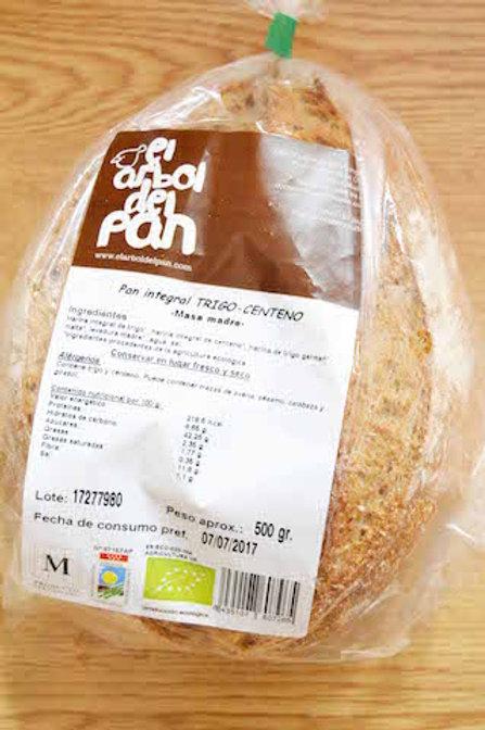 Pan integral trigo-centeno (500 gr)