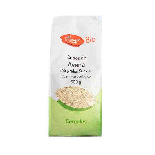 Copos de avena suave integral bio (500 g)