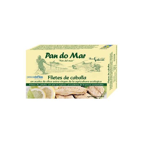 Filetes de Caballa en Aceite de Oliva Ecológico Pan do mar (120gr)