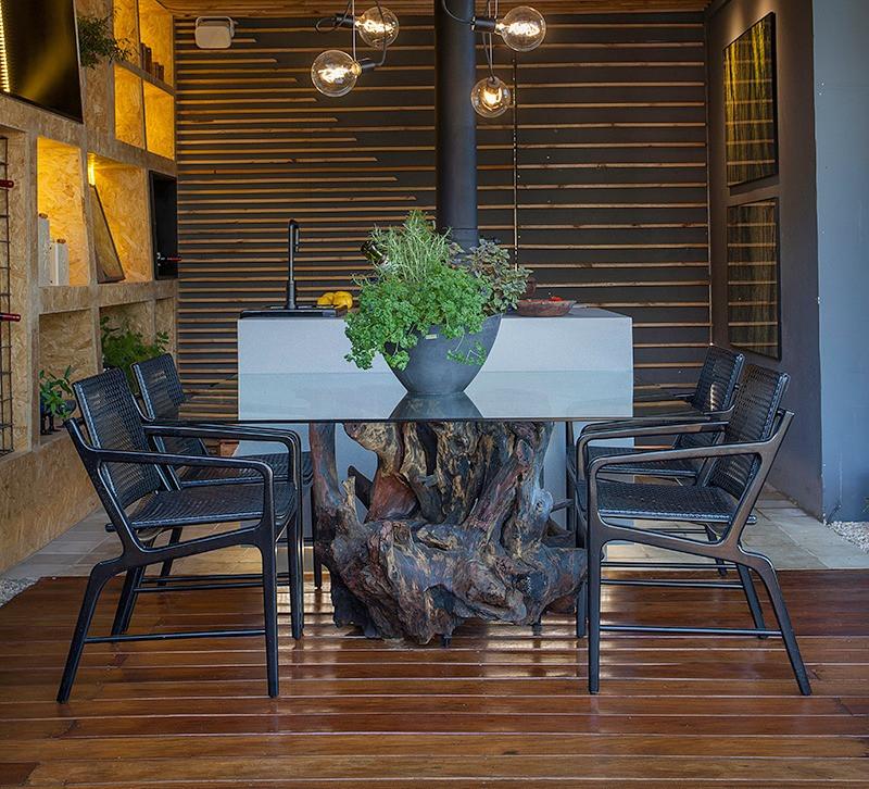 Base para mesa de jantar em madeira maciça de raiz de Eucalipto ArboREAL