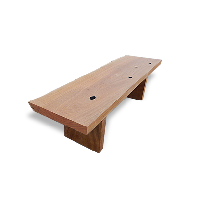 Wooden bench with bark - BCP02