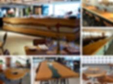 Vista Café e Restaurante com peças projetas especialmente para os ambientes. ArboREAL Móveis Rústicos em Madeira Maciça