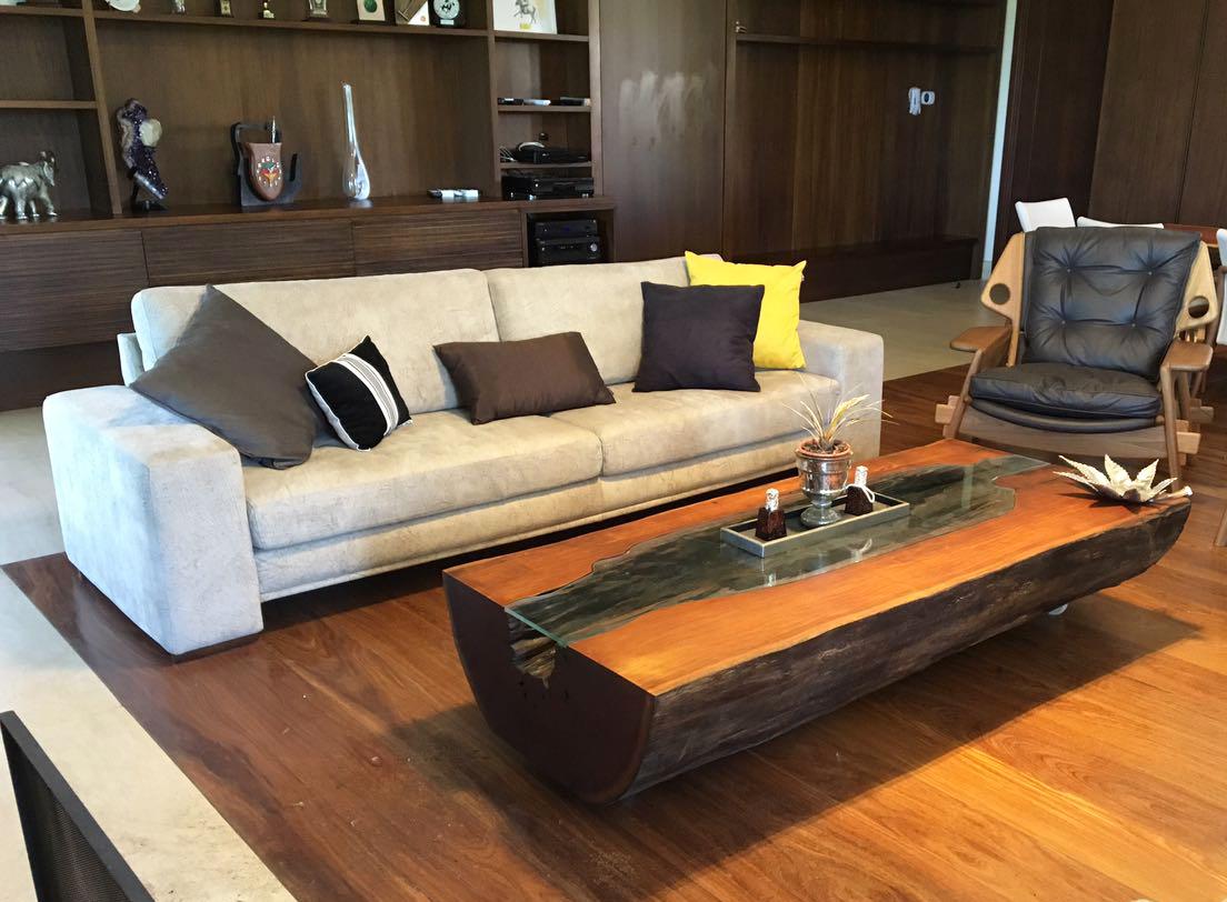 Mesa de Centro de madeira Orgânica