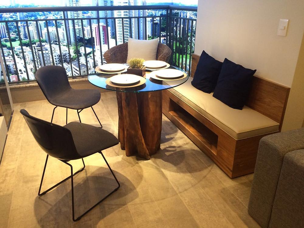 Base para mesa de jantar em madeira maciça de Guarantã ArboREAL