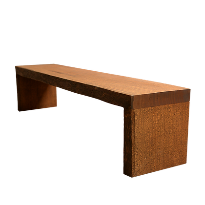 Banco de Madeira com pés em madeira - BCP05