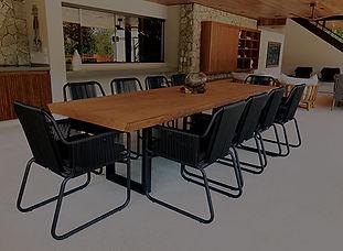 ArboREAL Mesa em madeira maciça rústica contemporânea de alta qualidade design exclusivo moderna
