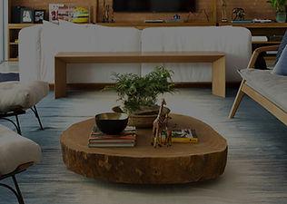 Mesa de centro rústica em madeira maciça. ArboREAL Móveis Rústicos em Madeira Maciça