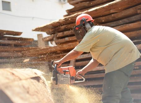 Reaproveitamento de pó de madeira