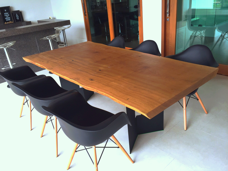 Mesa madeira Rústica Prancha Maciça