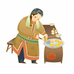 Chinese Mongolian Traditional Food Poster