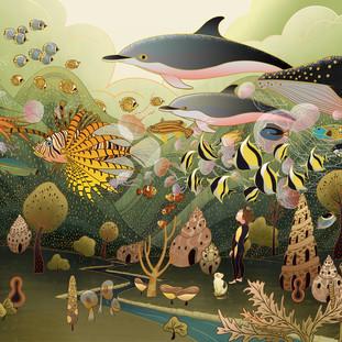 Flying Fish Children Book  《会飞的鱼》绘本