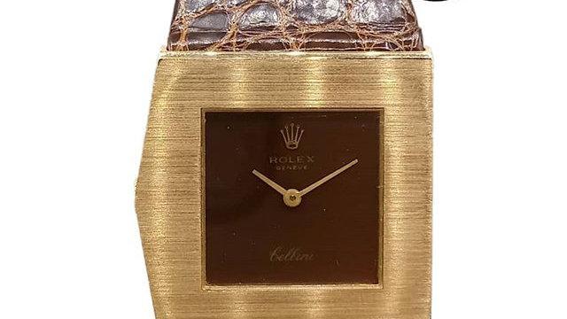 rolex cellini asymmetric gold