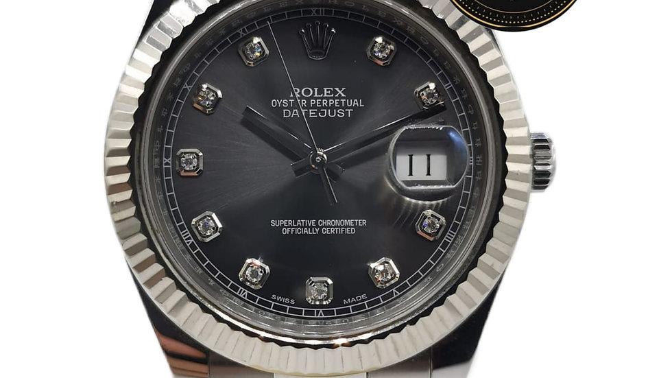 Rolex Datejust Dial Gris Diamant