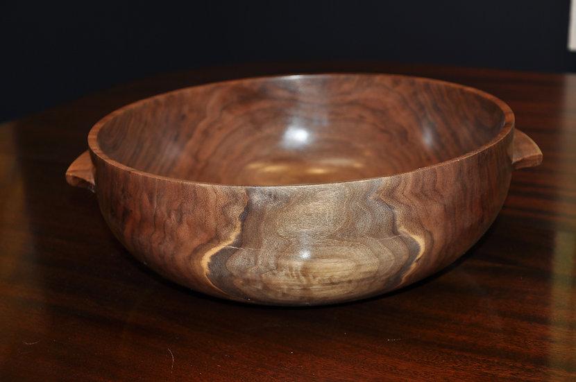 Walnut Bowl with Handles   David Morrical
