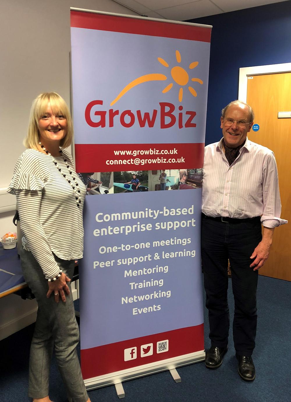 Clair Smith and Alan Garratt of GrowBiz