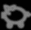 Piggy Bank Icon - Grey