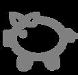 Hucha icono - Gris