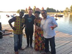 Trakai Vasaru with Ndioba Gueye (Senegal), Remigijus Rancys (Lithuania) and Luiz Black (Brazil)