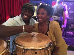 Bass player Ndioba Gueye (Senegal)