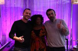 With Artom Sarvi & Miguel Hernandes