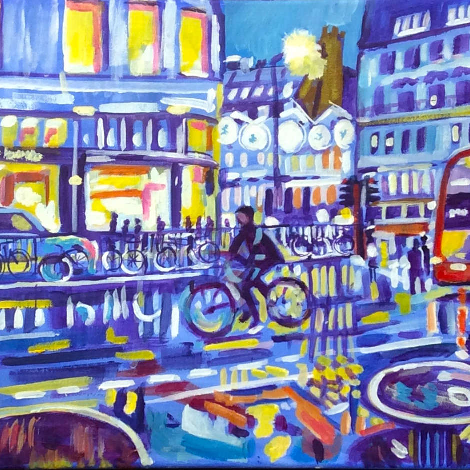 Christmas lights in London, Malcolm Perry.