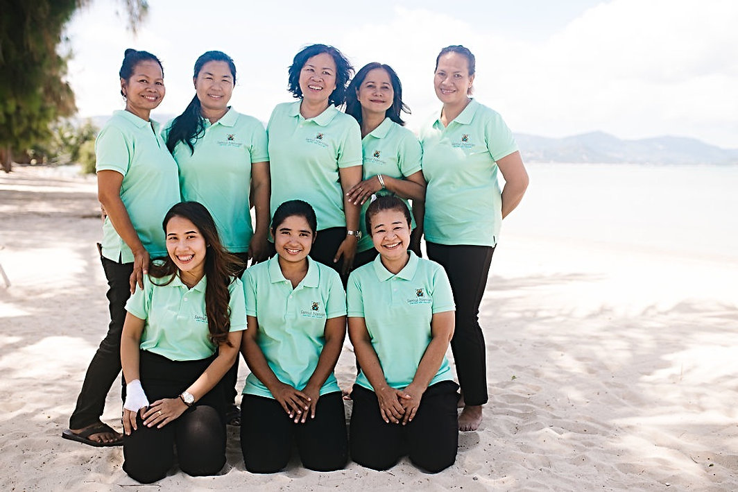 Samui Nannies on the beach
