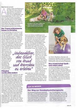 """Erster Artikel in der Zeitschrift """"Bella"""" Seite 2"""