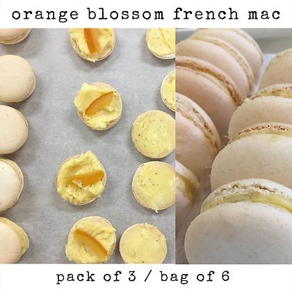 orange blossom french mac