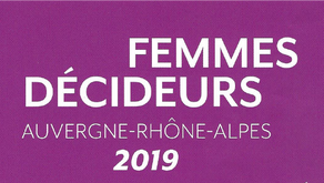 Nominée en tant que Femmes décideurs Rhône-Alpes 2019